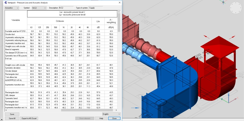 Calculation of noise distribution in ducting systems 3