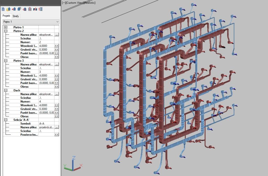 Projektowanie budynków wielopiętrowych z wykorzystaniem wielu rysunków 1