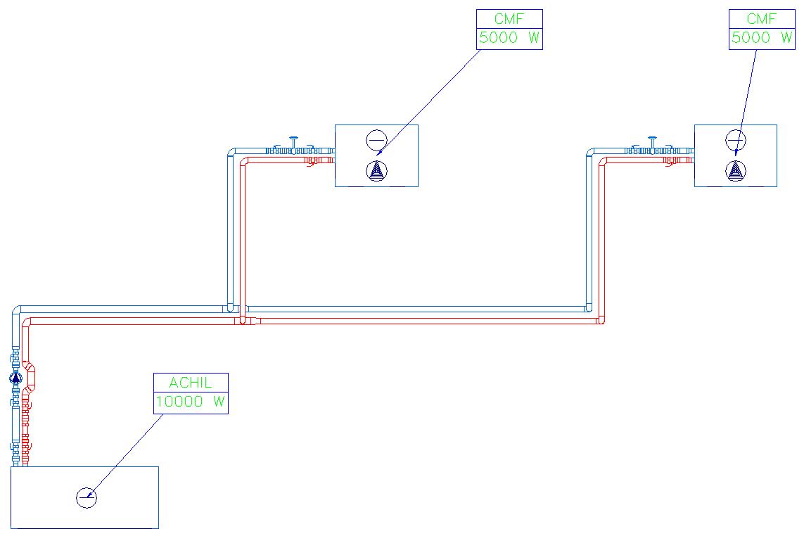 HYDRONICPACK Automatyczny dobór średnic 2D 3