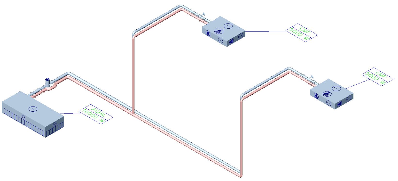 HYDRONICPACK Automatyczny dobór średnic 3D 2
