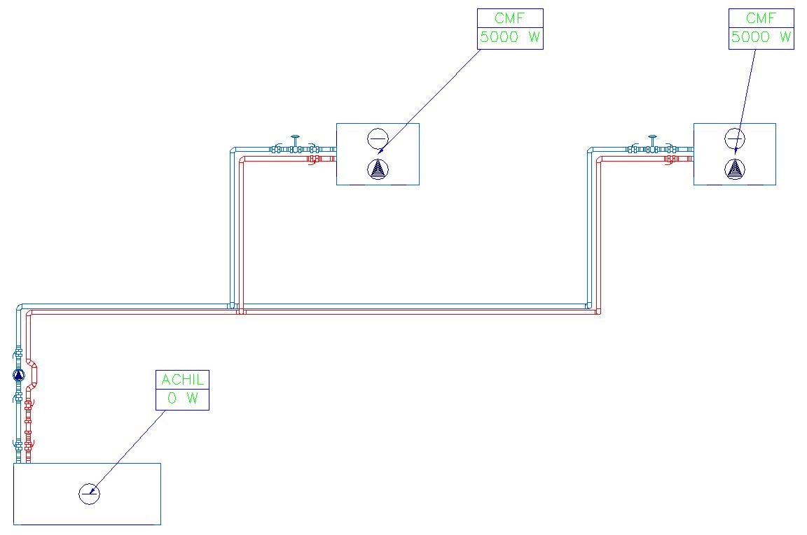 HYDRONICPACK Automatyczny dobór średnic 2D 4