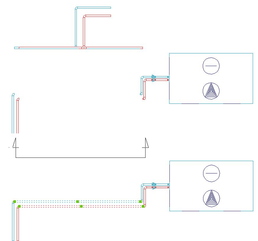 HYDRONICPACK Przekrój pomocniczy 2D 1